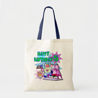 5th Birthday Space Birthday Tote Bag