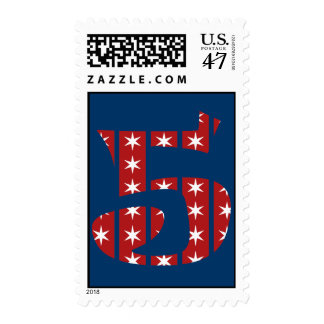 5th Birthday Stars and Stripes Stamp