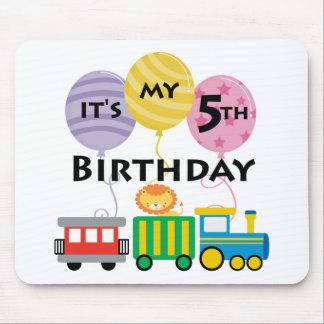 5th Birthday Train Birthday Mouse Pad