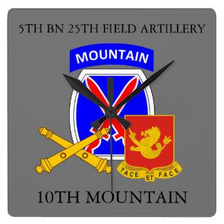 5TH BN 25TH FIELD ARTILLERY 10TH MOUNTAIN CLOCK