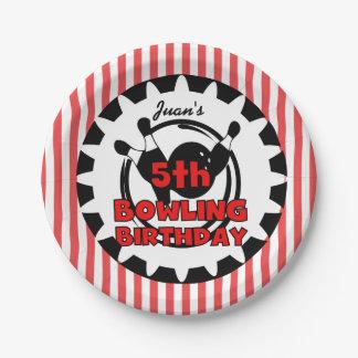5th Bowling Sports Birthday Paper Plates