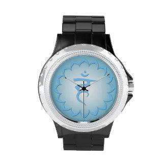 5th Chakra - Throat Chakra - Light Blue Wrist Watches