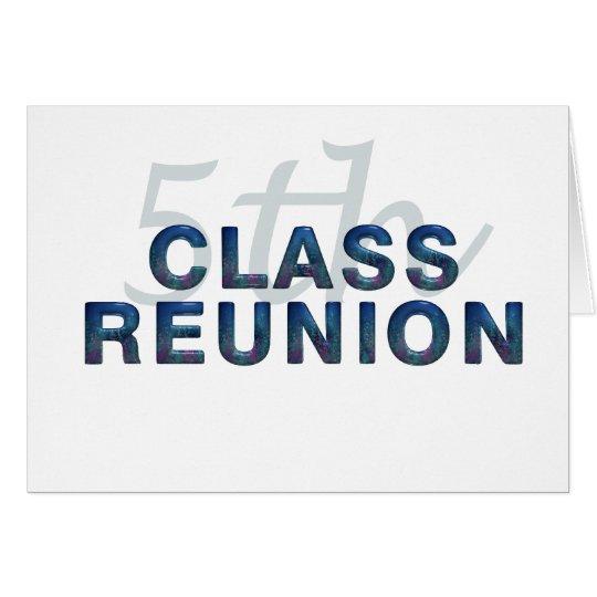 5th Class Reunion Card