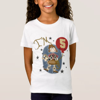 5th Cowgirl Birthday Tshirts and Gifts