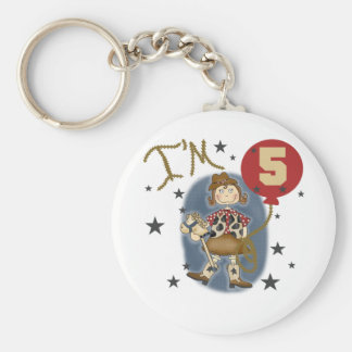 5th Cowgirl Birthday Tshirts and Gifts Keychain