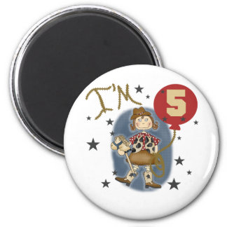 5th Cowgirl Birthday Tshirts and Gifts Magnet