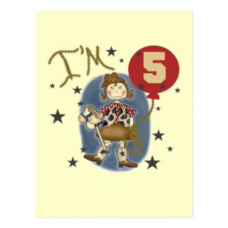 5th Cowgirl Birthday Tshirts and Gifts Postcard