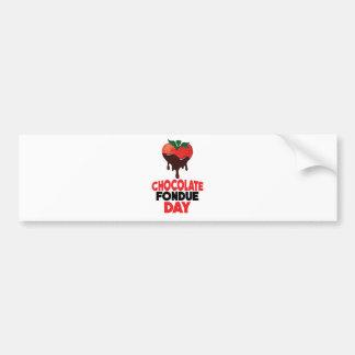 5th February - Chocolate Fondue Day Bumper Sticker