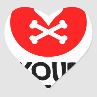 5th February - Dump Your Significant Jerk Day Heart Sticker