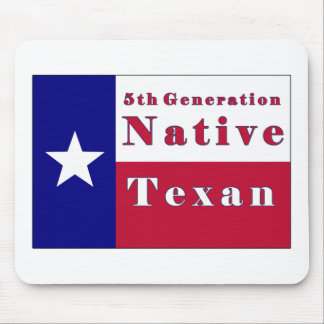 5th Generation Native Texan Flag Mouse Pad