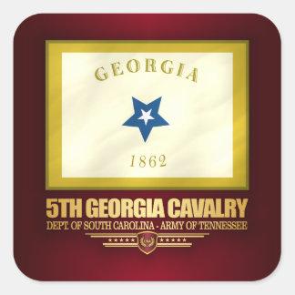 5th Georgia Cavalry Square Sticker