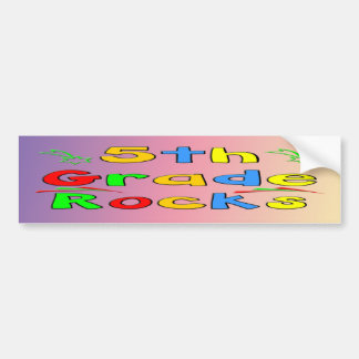 5th Grade Rocks Bumper Sticker Car Bumper Sticker