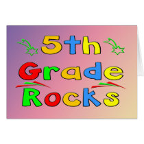 5th Grade Rocks Card