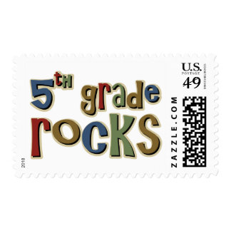 5th Grade Rocks Fifth Postage