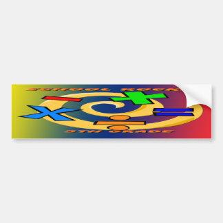 5th Grade Rocks - Math Symbols Car Bumper Sticker