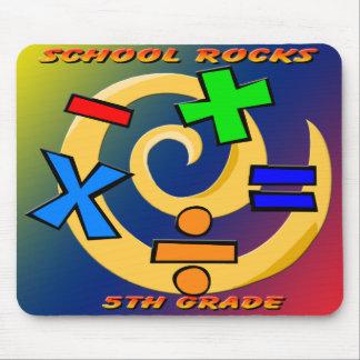 5th Grade Rocks - Math Symbols Mouse Pad