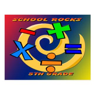 5th Grade Rocks - Math Symbols Postcard