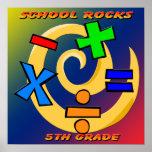 5th Grade Rocks - Math Symbols  Poster
