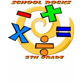5th Grade Rocks - Math Symbols shirt
