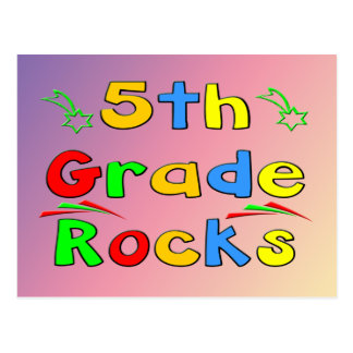 5th Grade Rocks Postcard