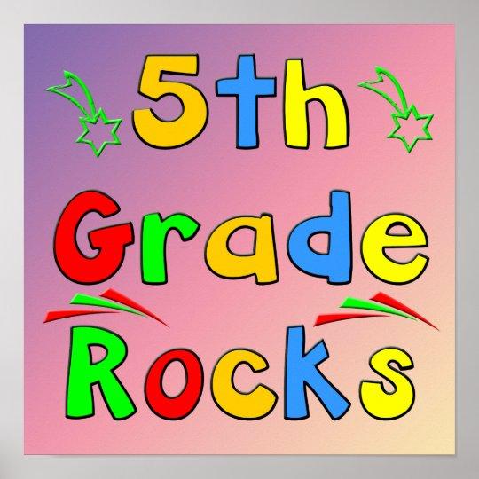 5th Grade Rocks Poster