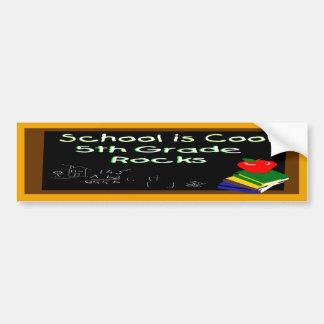 5th Grade School is Cool Car Bumper Sticker