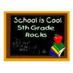 5th Grade School is Cool Postcard