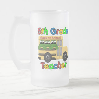 5th Grade Teacher 16 Oz Frosted Glass Beer Mug