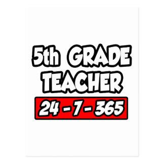 5th Grade Teacher 24-7-365 Postcard