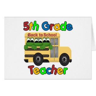 5th Grade Teacher Card