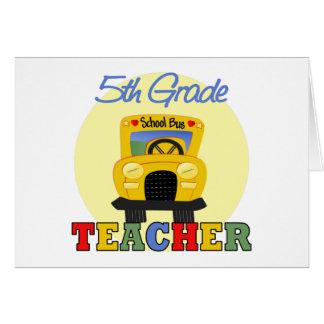 5th Grade Teacher Gift Greeting Card