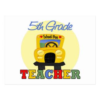 5th Grade Teacher Gift Postcard