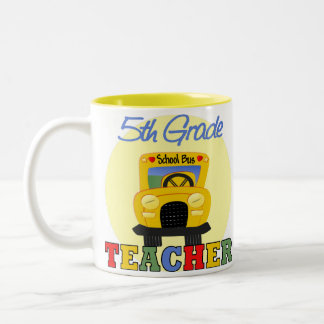 5th Grade Teacher Gift Two-Tone Coffee Mug