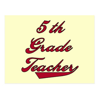 5th Grade Teacher Red Tshirts and Gifts Postcard