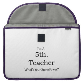 5th. Grade Teacher Sleeve For MacBook Pro