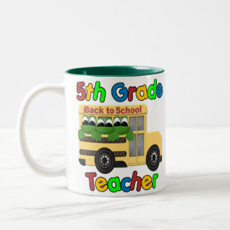 5th Grade Teacher Two-Tone Coffee Mug