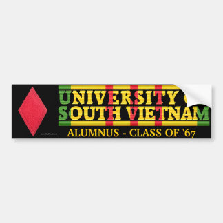 5th Inf. Div. - U of South Vietnam Alumnus Sticker