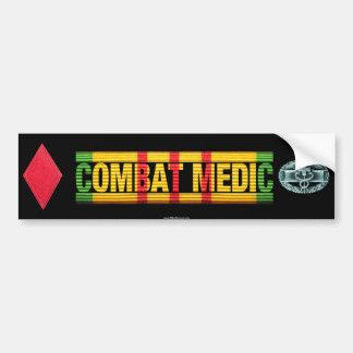 5th Inf. Div. Vietnam COMBAT MEDIC Sticker Car Bumper Sticker