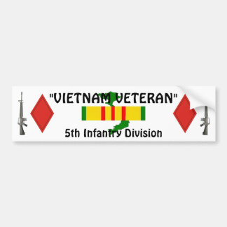 5th Inf Division Bumper Sticker Car Bumper Sticker