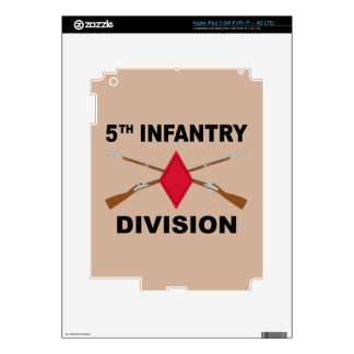 5th Infantry Division - Crossed Rifles - With Text Decal For iPad 3