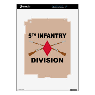 5th Infantry Division - Crossed Rifles - With Text Decals For The iPad 2