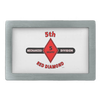 "5TH INFANTRY DIVISION (MECHANIZED)""RED DIAMOND"" BELT BUCKLES"