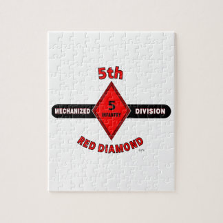 "5TH INFANTRY DIVISION (MECHANIZED)""RED DIAMOND"" JIGSAW PUZZLE"