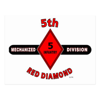 "5TH INFANTRY DIVISION (MECHANIZED)""RED DIAMOND"" POSTCARD"