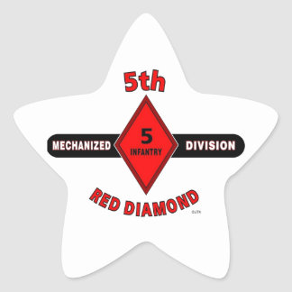 "5TH INFANTRY DIVISION (MECHANIZED)""RED DIAMOND"" STAR STICKER"