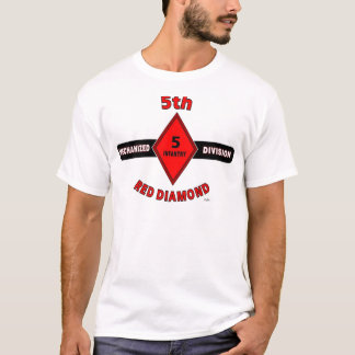 """5TH INFANTRY DIVISION (MECHANIZED)""""RED DIAMOND"""" T-Shirt"""