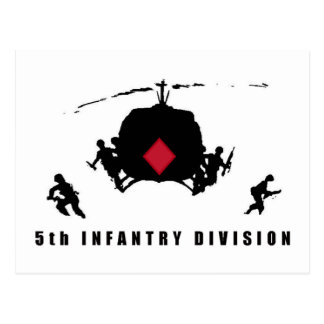 5th INFANTRY DIVISION Postcard