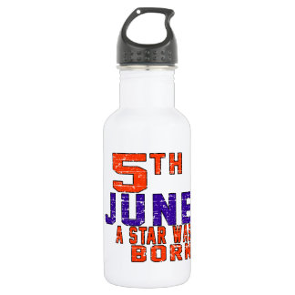 5th June a star was born 18oz Water Bottle