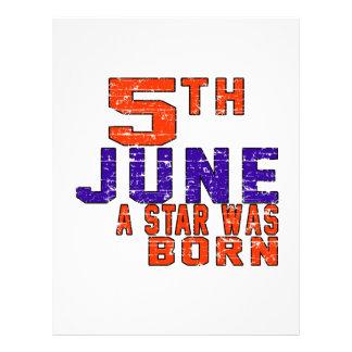 5th June a star was born Letterhead