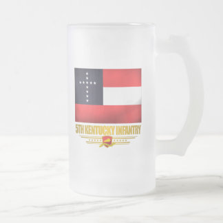 5th Kentucky Infantry 16 Oz Frosted Glass Beer Mug